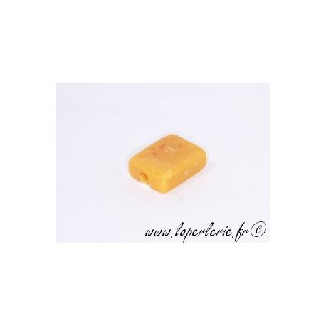 Rectangle 20X15mm AMBRE JAUNE
