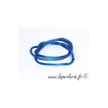 Lanière viscose 2mm BLUE ZIRCON x2m