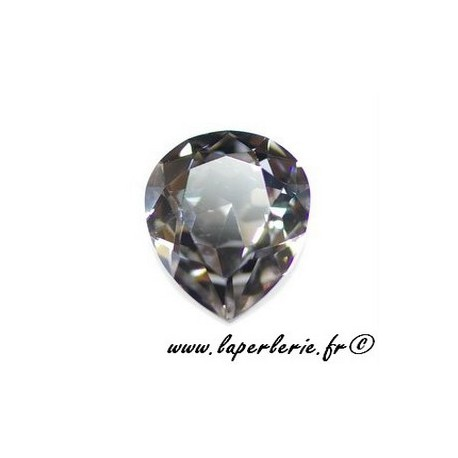 Pear cabochon 4320 18X13mm BLACK DIAMOND