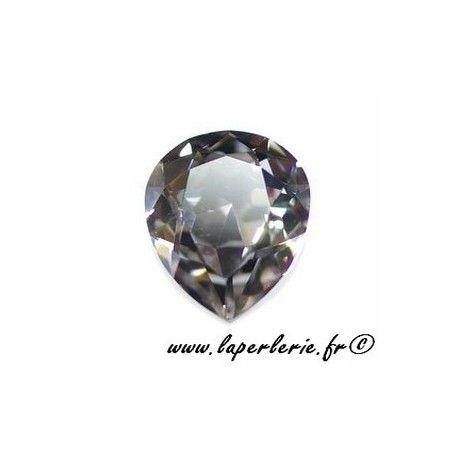 Pear cabochon 4320 18X13mm BLACK DIAMOND