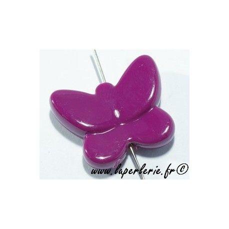 Papillon polyester 30mm PRUNE x3