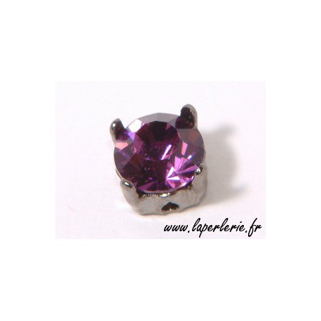 Strass pte diamant 6 mm AMETHYST x2