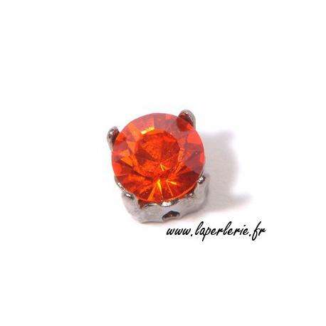 Strass pte diamant 6 mm HYACINTH x2