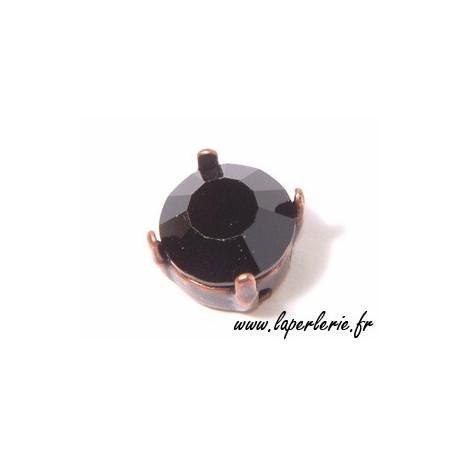 Round strass 6mm JET x2