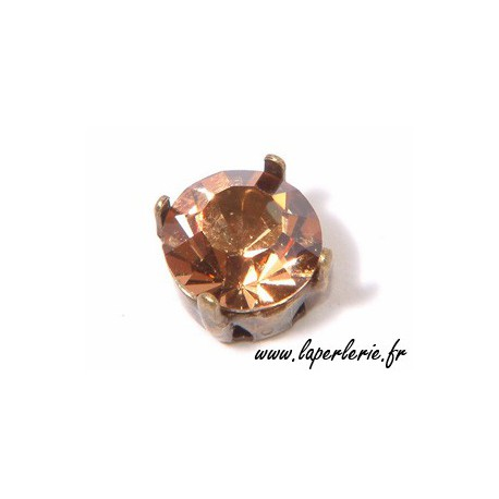 Strass pte diamant 6 mm LIGHT SMOKED TOPAZ x2