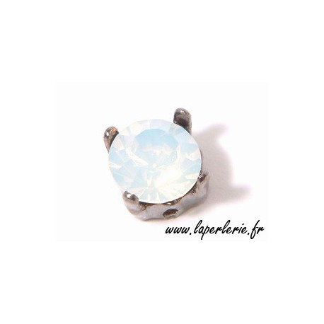 Strass pte diamant 6 mm  WHITE OPAL x2
