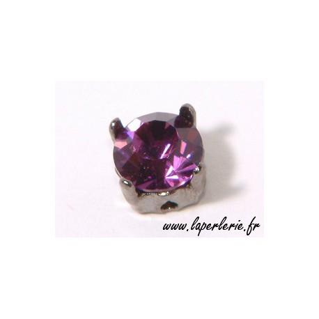 Strass pte diamant 8 mm AMETHYST x2