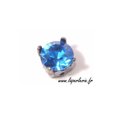 Strass pte diamant 8 mm SAPPHIRE x2