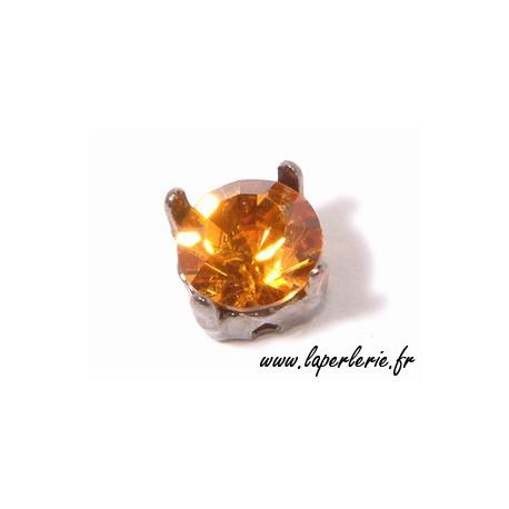 Strass pte diamant 8 mm TOPAZ x2