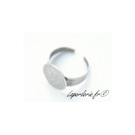 Ring with 15mm pad OLD SILVER COLOR
