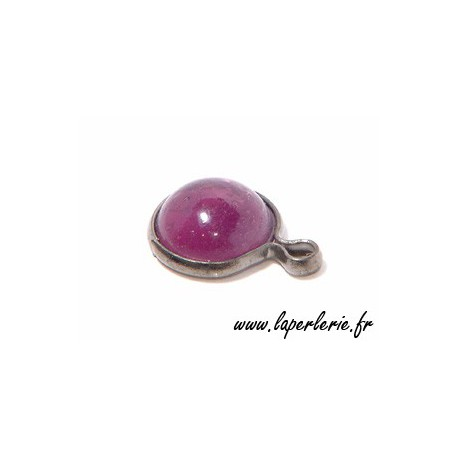 Round pendant metal around 10mm AMETHYST