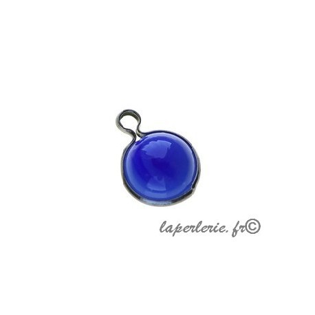 Round pendant metal around 10x14mm PERVENCHE