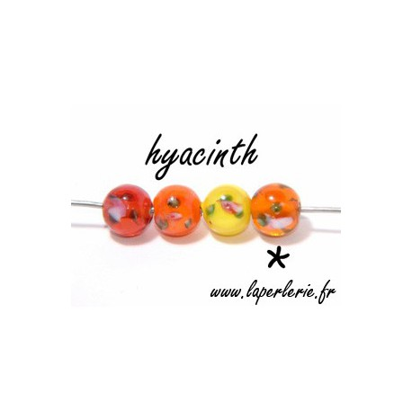 Ronde inclusion fleur 8 mm HYACINTH
