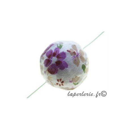Liberty bead 20mm Flower LILAS/BEIGE