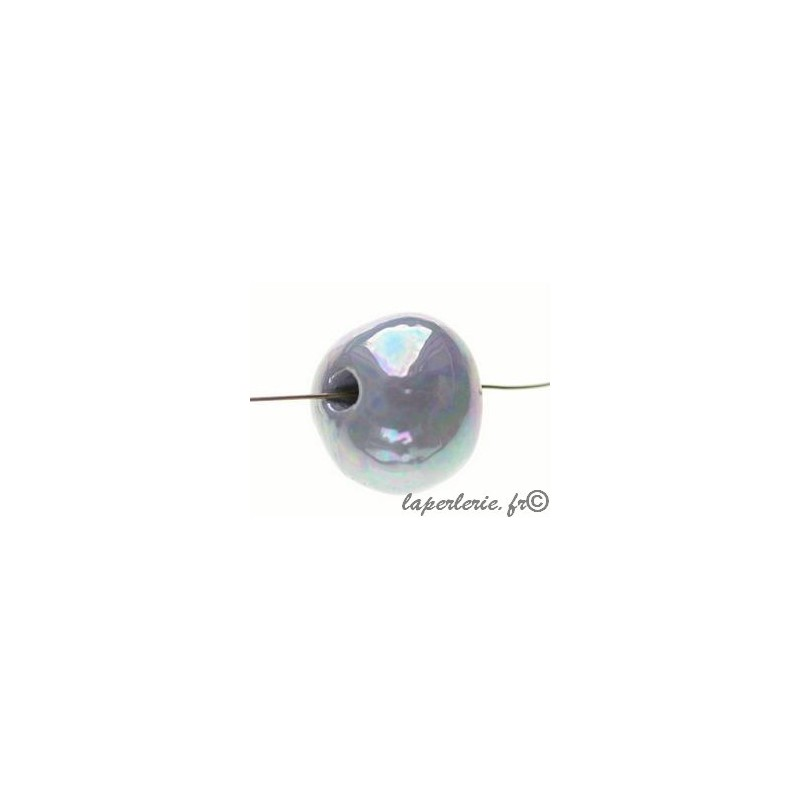 Céramique tubes argent 35 mm 2 pièce grecque Céramique Perles