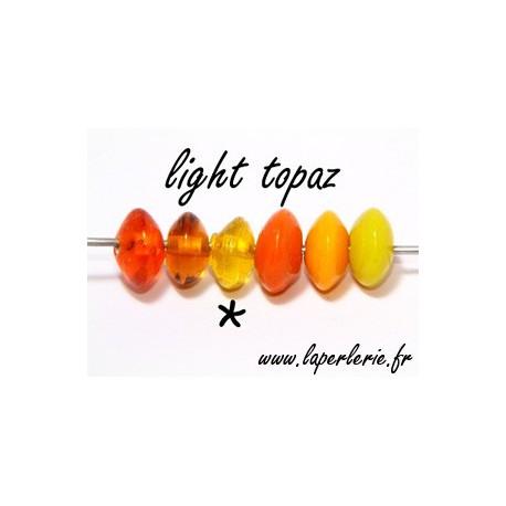 Rondel 7/8 mm LIGHT TOPAZ x10