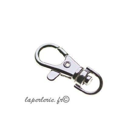 Porte clé mousqueton 37x15mm ARGENTE