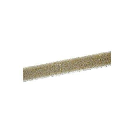 Lanière caviar fond pailleté 10mm ÉCRU x35cm