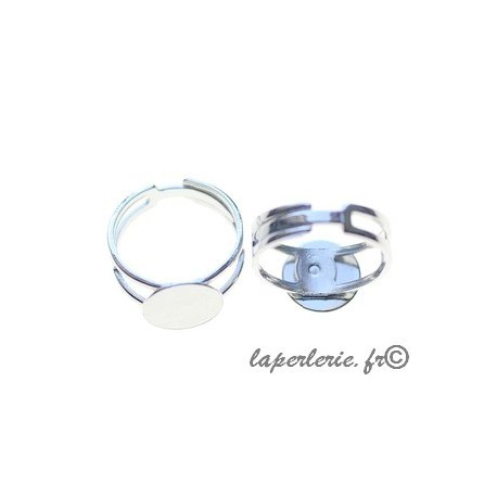 Adjustable ring with plate 11mm SILVER COLOR
