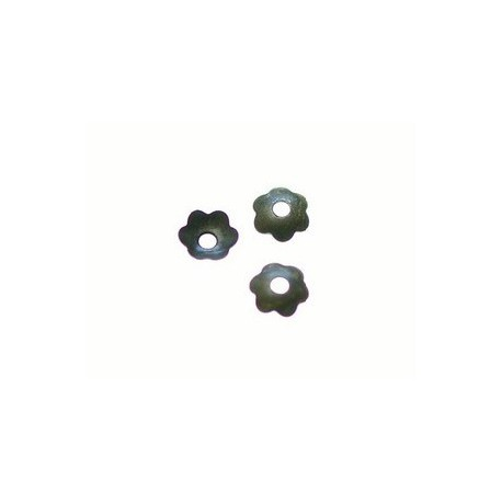 Calotte lisse fleur 4mm LAITON VIEILLI x20