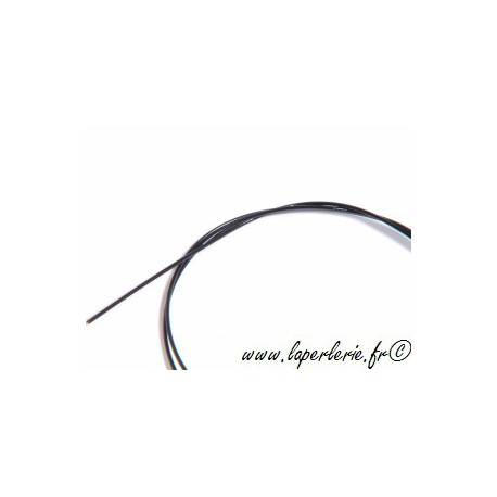 Black nylon coated stainless steel wire x1m