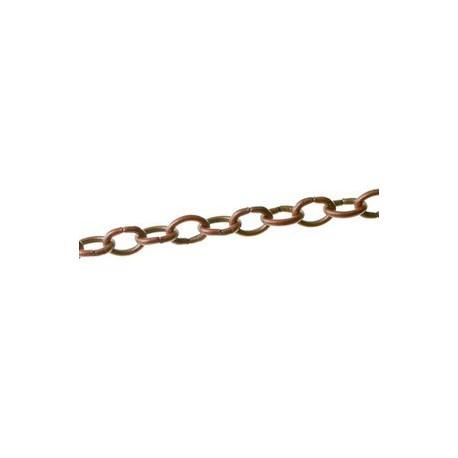 Chaîne anneau ovale 6 mm CUIVRE, le mètre