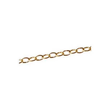 Chaîne anneau ovale 6 mm DORE, le mètre