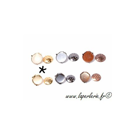 Ear clip with strainer pad 20mm GOLD COLOR x2
