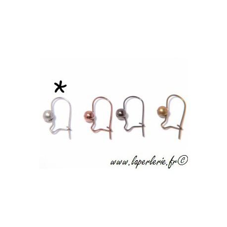 Crochet boucle d oreille ARGENTÉ ANTIQUE x2