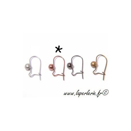 Crochet boucle d oreille CUIVRE x2