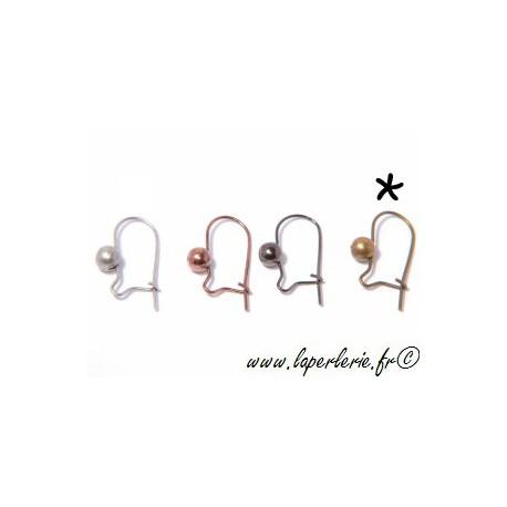 Crochet boucle d oreille LAITON VIEILLI x2