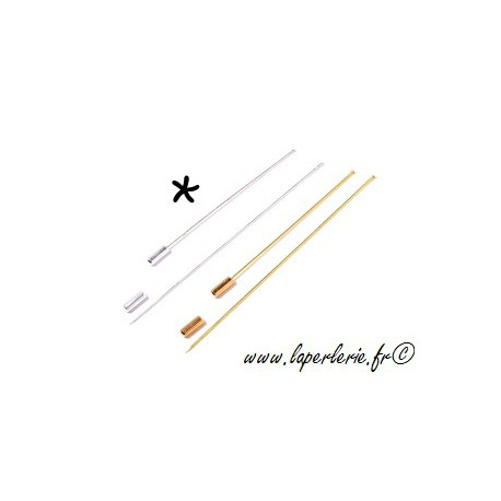 Brooch stick without nail 8cm SILVER COLOR