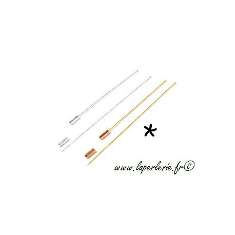 Brooch stick without end 8cm GOLD COLOR