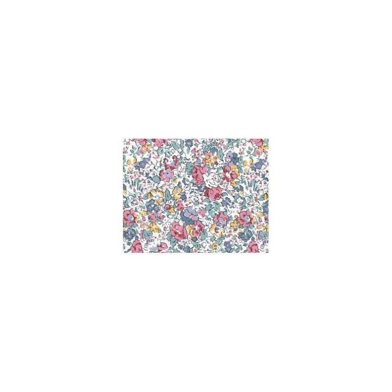 Superieur Liberty Fabric Of London® 2022L Claire Aude Vert/Mauve/Vieux Rose X 0.50cm