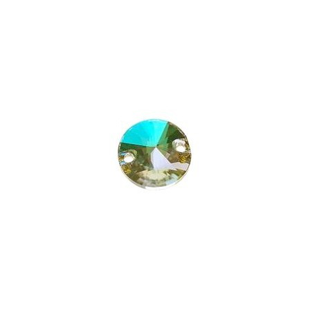 Drilled cabochon 3200 10mm CRYSTAL LUMINOUS GREEN