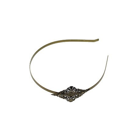 Headband with stamp lozenge 36x60mm BRONZE COLOR x1