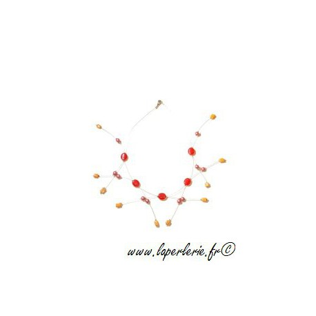 Kit Haute Tension necklace ROUGE / ROSE / ORANGE