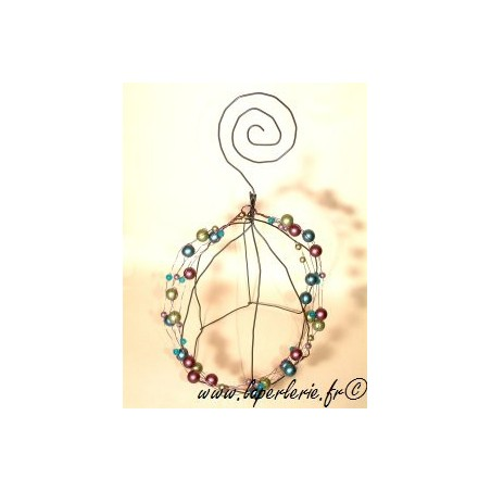 Kit 5 Rangs necklace OLIVINE / VIOLET / BLEU