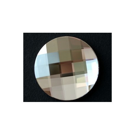 Stick on Round cabochon 2035 30mm CRYSTAL SILVER SHADE