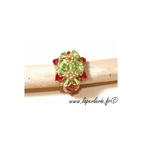 Kit Double Fleur Ring PERIDOT / SIAM