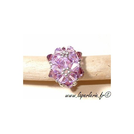 Kit Anillo Double Fleur VIOLET / AMETHYST
