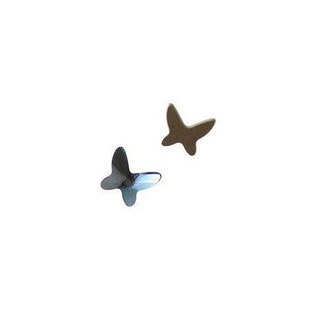 Butterfly flat back 2854 8mm DENIM BLUE