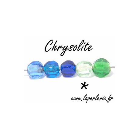 Cubo Chanfreiné 10mm CHRYSOLITE