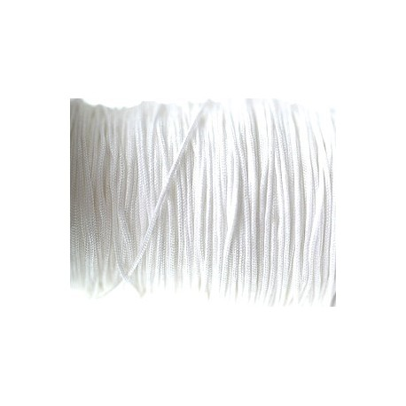Synthetic cord 1mm WHITE x3m