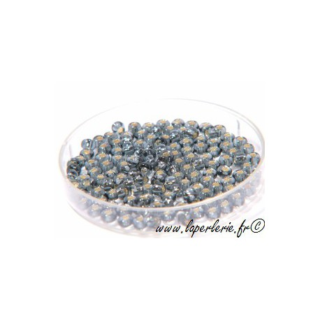 Rocallas 2mm BLACK DIAMOND ARGENTEE (900 cuentas)