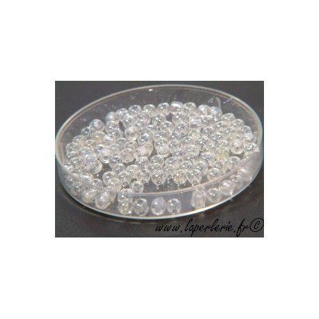 Rocaille 2mm CRYSTAL LUSTRé , mesure de 12.50 gr environ 900 perles