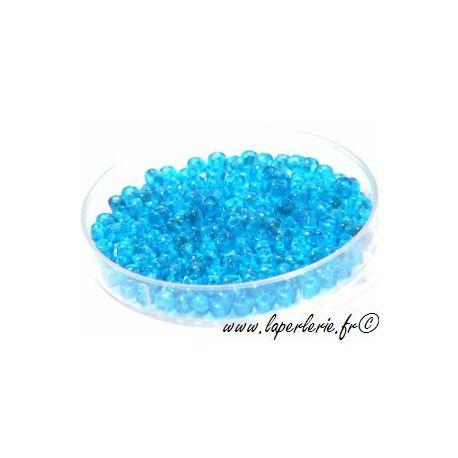 Seed beads DARK AQUAMARINE (400 beads)
