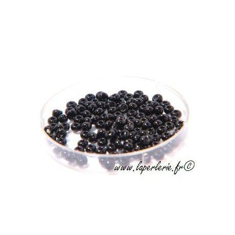 Rocaille 2mm JET, mesure de 12.50 gr environ 600 perles
