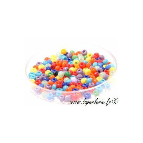 Rocaille MELANGE OPAQUE, mesure de 12.50 gr environ 400 perles
