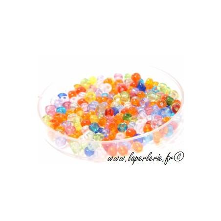 Seed beads MELANGE TRANSPARENT (400 beads)